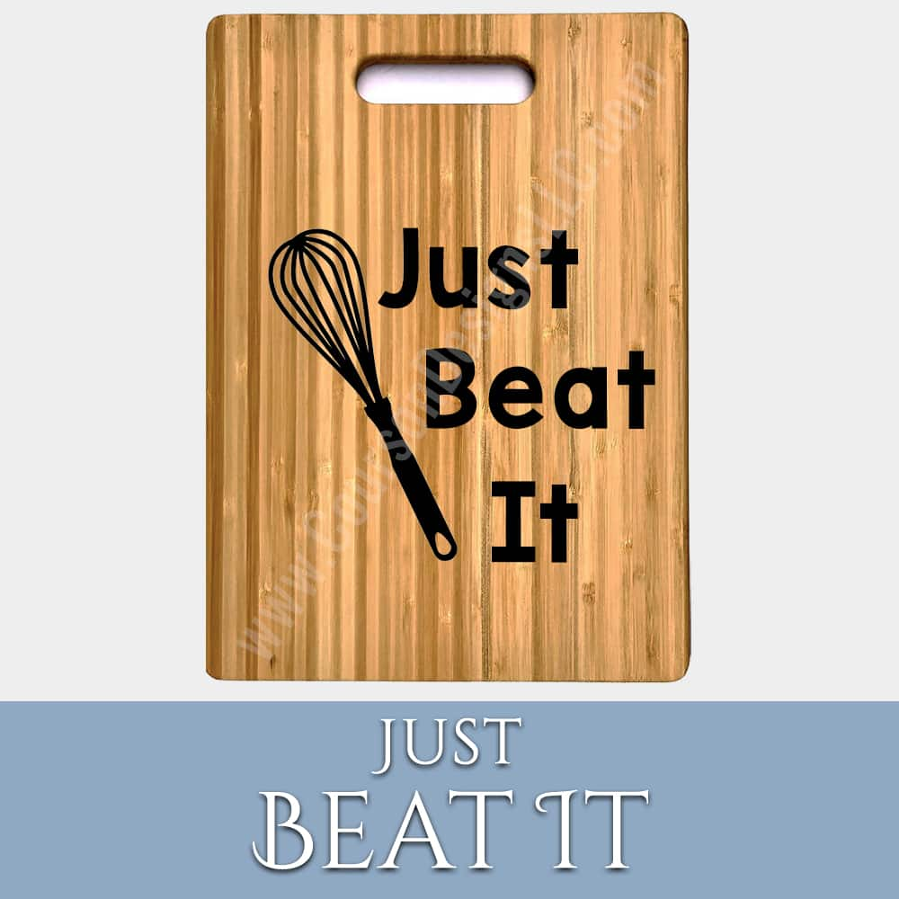 Just Beat It Cutting Board