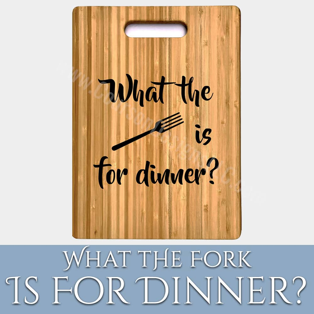 What the Fork Cutting Board